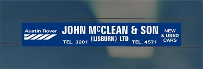 Picture of John McLean - Lisburn Dealer rear glass Sticker