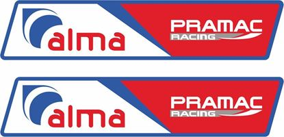 """Picture of """"alma Pramac Racing"""" Decals / Stickers"""