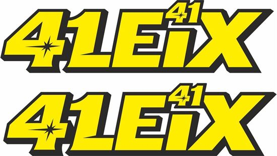 "Picture of ""41 Leix"" Aleix Espargaro  Track and street race sponsor logo"