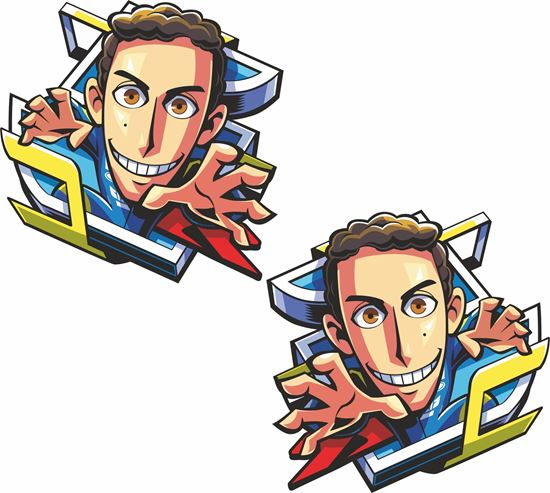 Picture of Alex Rins Decals / Stickers