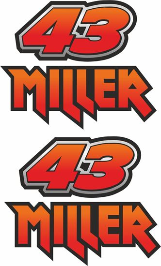 "Picture of ""42 Miller"" Decals / Stickers"