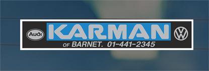 Picture of Karmen of Barnet Dealer rear glass Sticker