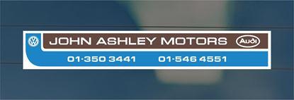 Picture of John Ashley - London  Dealer rear glass Sticker