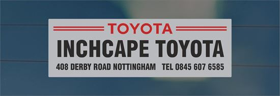 Picture of Inchcape Toyota - Nottingham Dealer rear glass Sticker