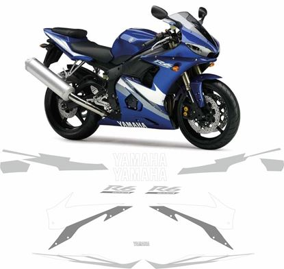 Picture of Yamaha YZF R6 2004 - 2005 replacement Decals / Stickers