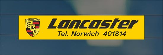 Picture of Lancaster  - Norwich rear glass Sticker