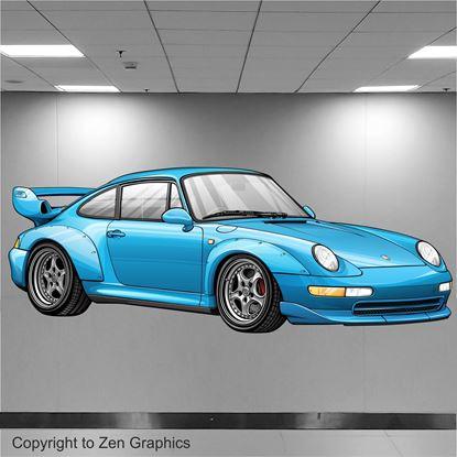Picture of Porsche 993 GT2 Wall Art sticker (full colour)