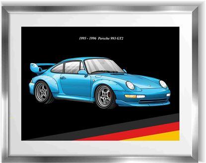 Picture of Porsche 993 GT2  Wall Frame Art Print