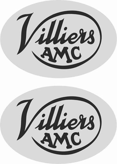 Picture of Francis Barnett Fulmar Engine Cover Decals / Stickers