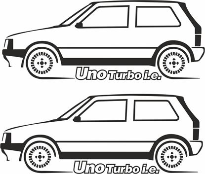 Picture of Fiat Uno Turbo Decals  / Stickers