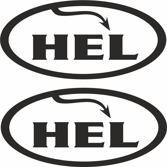 """Picture of """"Hel"""" Track and street race sponsor logo"""