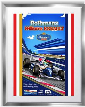 Picture of Renault Ayrton Senna F1 Wall Frame Art Print