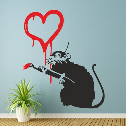 Picture of Banksy Love Rat Wall Art sticker