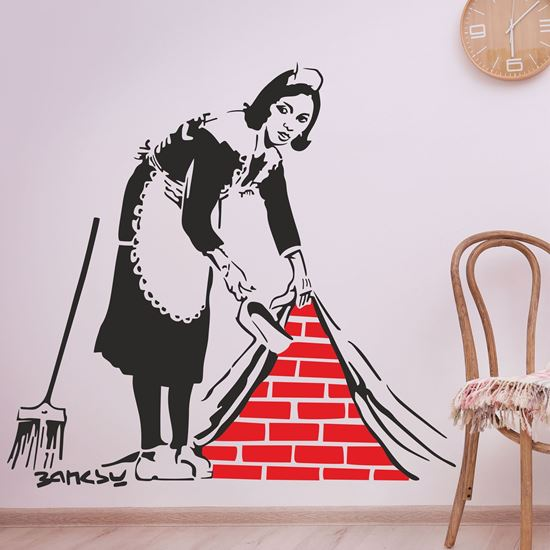 Picture of Banksy Sweep it under the Carpet Wall Art sticker