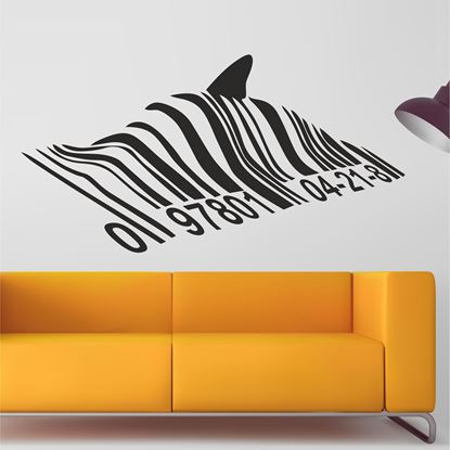 Picture of Banksy Barcode Shark Wall Art sticker