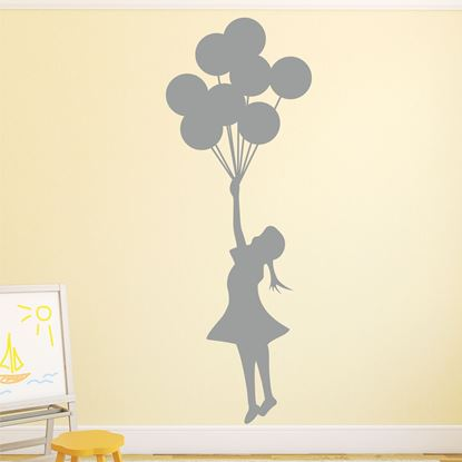 Picture of Banksy Flying Ballons Art sticker