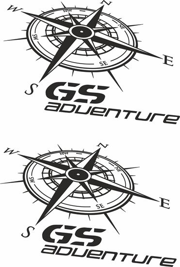 Picture of BMW GS Adventure Pannier / Panel  Decals / Stickers