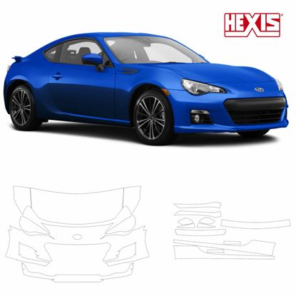 Picture of Subaru BRZ 2013 -  2017 Pre Cut PPF Front & Side kit
