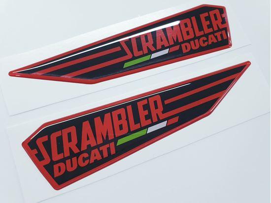 Picture of Ducati Scrambler adhesive Gel Badges