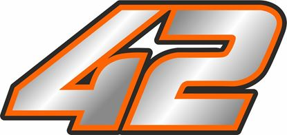 """Picture of """"42"""" Alex Rins Track and street race nose cone number Decal / Sticker"""