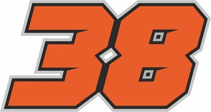 """Picture of """"38"""" Bradley Smith Track and street race nose cone number Decal / Sticker"""