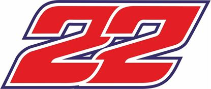 """Picture of """"22"""" Sam Lowes Track and street race nose cone number Decal / Sticker"""