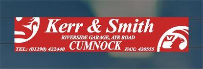 Picture of Kerr & Smith  - Cumnock Dealer rear glass Sticker