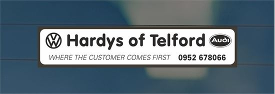 Picture of Hardys of Telford -Dealer rear glass Sticker