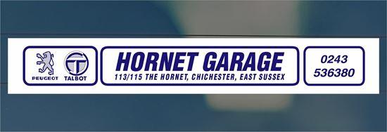 Picture of Hornet Garage  - East Sussex Dealer rear glass Sticker