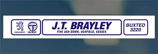 Picture of J.T. Brayley  - Sussex Dealer rear glass Sticker