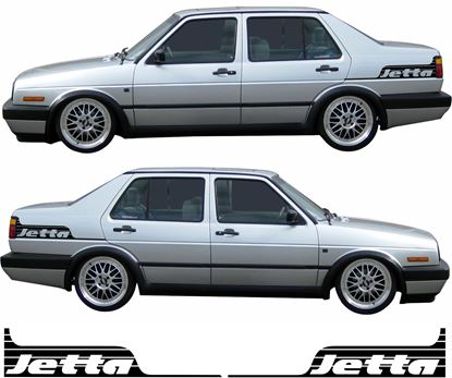Picture of VW Jetta MK2 side rear quarter Decals / Stickers