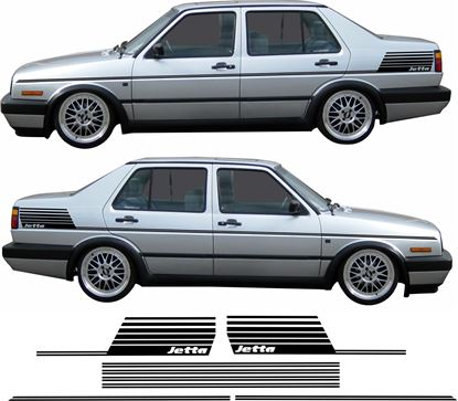 Picture of VW Jetta MK2  Double side and rear quarter  Stickers / Stripes