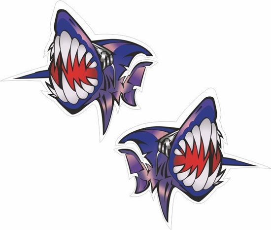 Picture of Carl Fogarty Shark Decals / Stickers