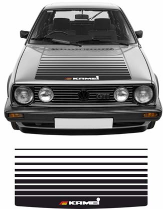 """Picture of MK2 Golf  / Jetta """"Kamei""""  Bonnet fade Stripes  / Sticker"""