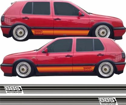 "Picture of Golf MK3  ""BBS Motorsport"" side Stripes / Stickers"