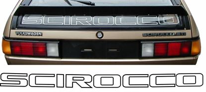 Picture of MK2 Scirocco rear Glass restoration sticker /  Decal