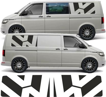 Picture of VW  T5 / T6  Long Wheel Base side panel Decals / Stickers