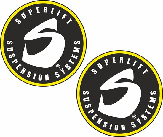 "Picture of ""Superlift Suspension Systems"" Decals / Stickers"