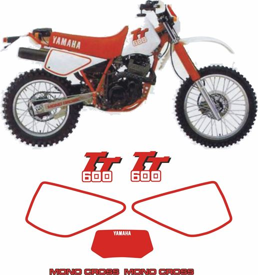 Picture of Yamaha TT600 1985 - 1986  replacement Decals / Stickers