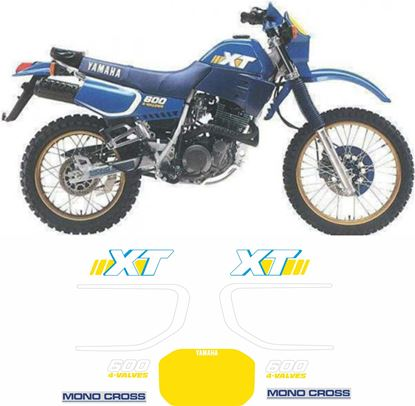 Picture of Yamaha XT600 1986 - 1989 replacement Decals / Stickers