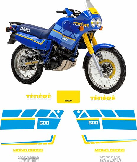 Picture of Yamaha XT600 Super Tenere 1988 - 1990  replacement Decals / Stickers