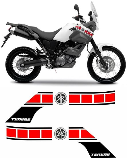 Picture of Yamaha XT660Z 2008 - 2010 replacement Decals / Stickers