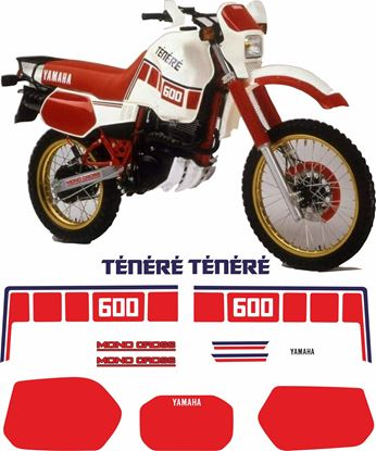 Picture of Yamaha XT600Z Tenere 1986 -1987 replacement Decals / Stickers