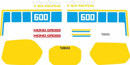 Picture of Yamaha XT600Z Tenere 1986  - 1987 replacement Decals / Stickers