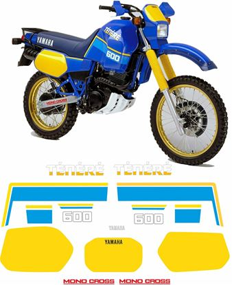 Picture of Yamaha TT600Z Tenere 1986  replacement Decals / Stickers
