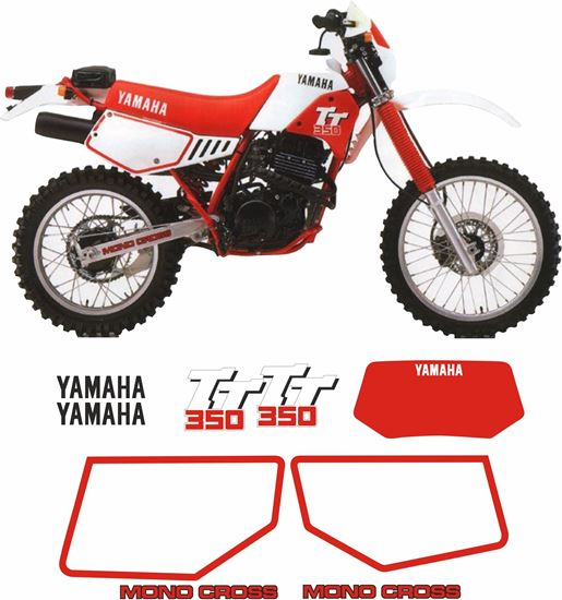 Picture of Yamaha TT350 1986 - 1987  replacement Decals / Stickers