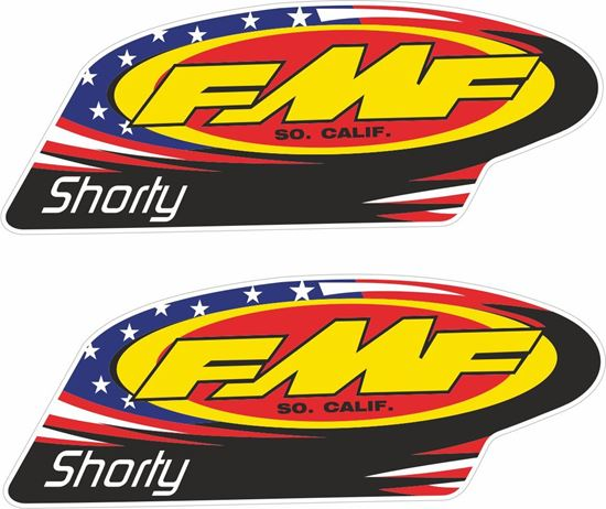 """Picture of """"FMF Shorty""""  Track and street race sponsor Decals / Stickers"""