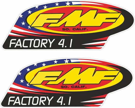 "Picture of ""FMF Factory 4.1""  Track and street race sponsor Decals / Stickers"
