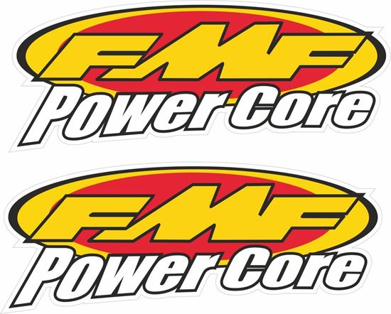 """Picture of """"FMF Power Core""""  Track and street race sponsor Decals / Stickers"""