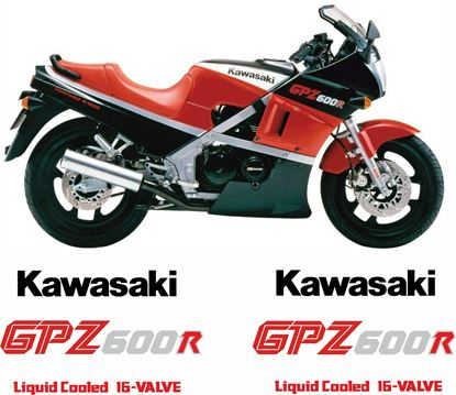 Picture of Kawasaki 600R 1986 replacement Decals / Stickers